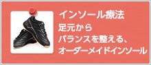 インソール(中敷き)足の形に合わせたオーダーメイドインソール